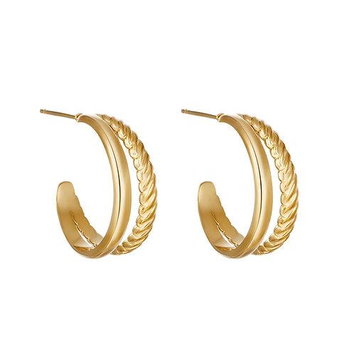 Wild ride earring - goud