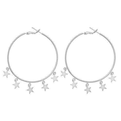 Falling stars earring - zilver