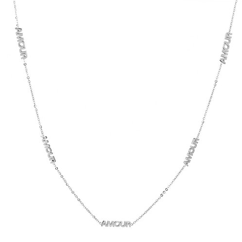 Amour necklace - zilver