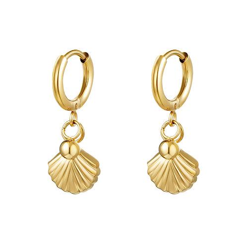 Shell we earring - goud