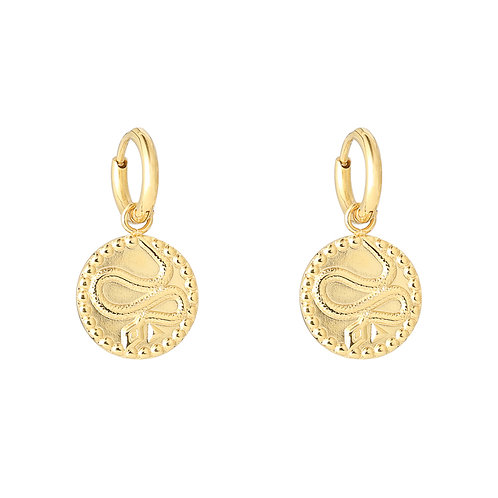 Vintage snake earring - gold