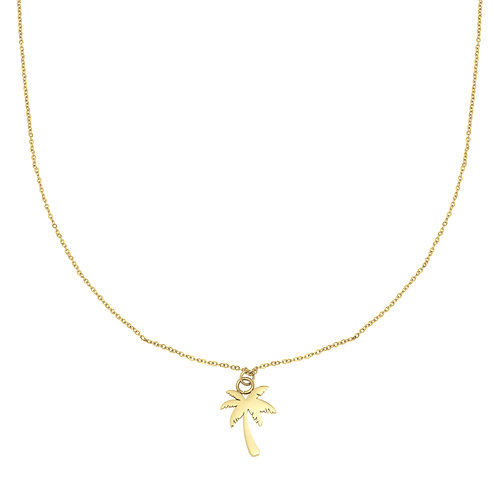 Palm tree necklace - gold