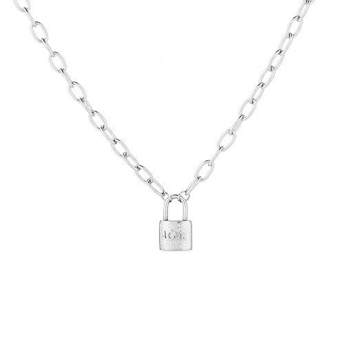 Lock it necklace - zilver