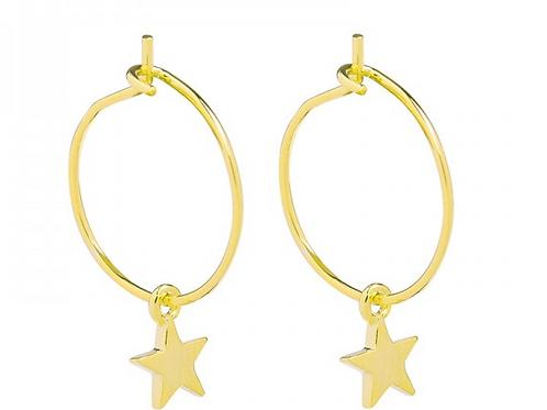 Star earring- Gold