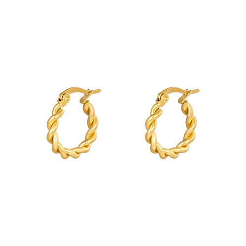 Call me now earring - goud