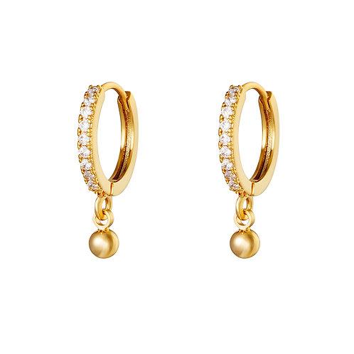 Dot glitter earring - goud