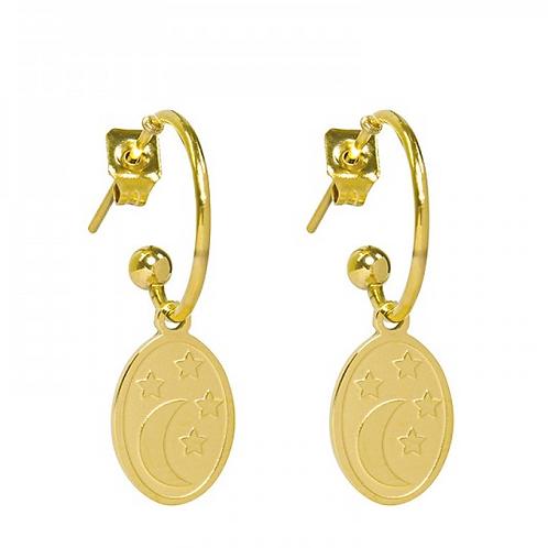Dream night earrings - Gold