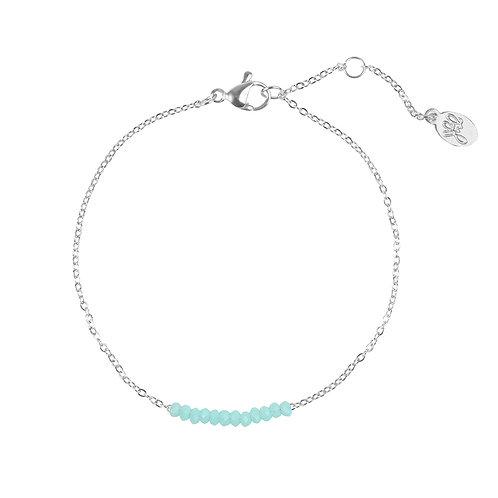 Mint row bracelet - zilver