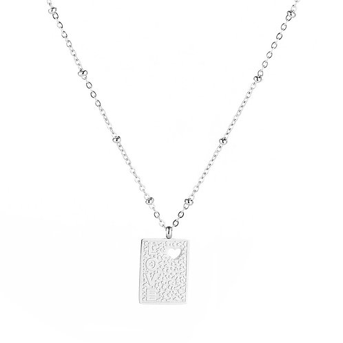 Loving heart necklace - zilver