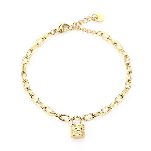 Lock it bracelet - goud