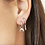 Thumbnail: The horn earring - zilver