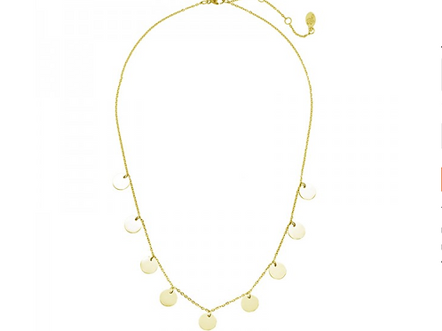 Necklace only circles - Gold