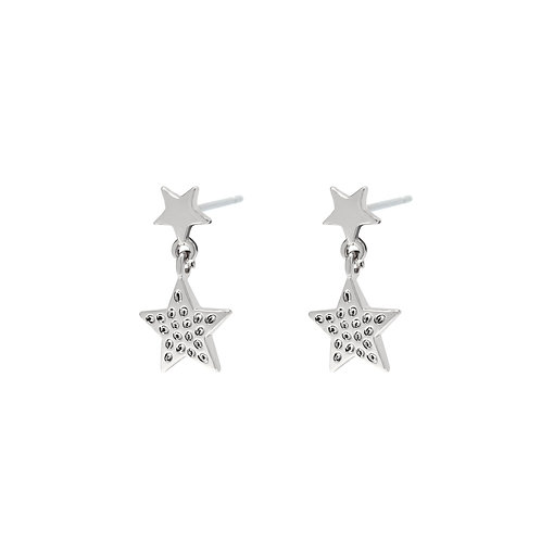 Lovely star earring - zilver