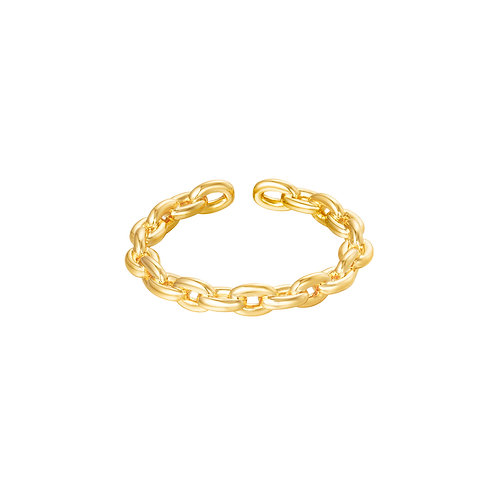 Connected ring - goud