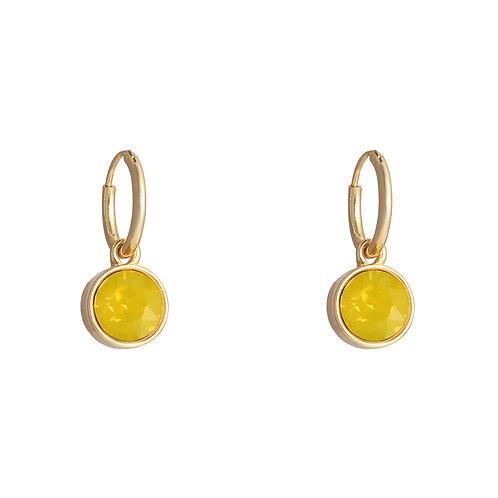Vibe earring yellow - goud