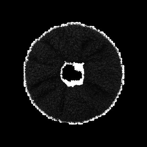 Scrunchie - Teddy zwart
