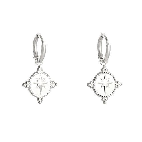 Earring - Guiding star Silver