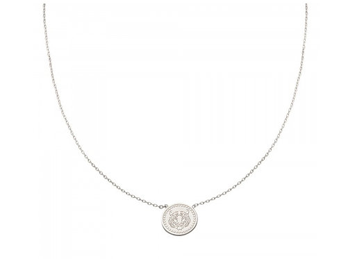 Tiger necklace round - silver