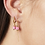 Thumbnail: Pink as candy earring - goud