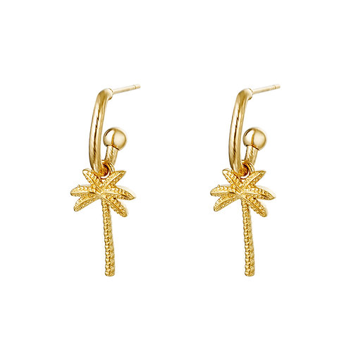 Palm with me earring - goud