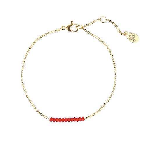 Red row bracelet - goud