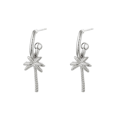 Palm with me earring - zilver