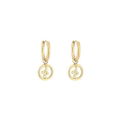 Snake fever earring - goud