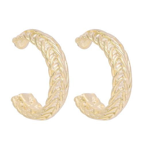 Jewel of curls earring - goud