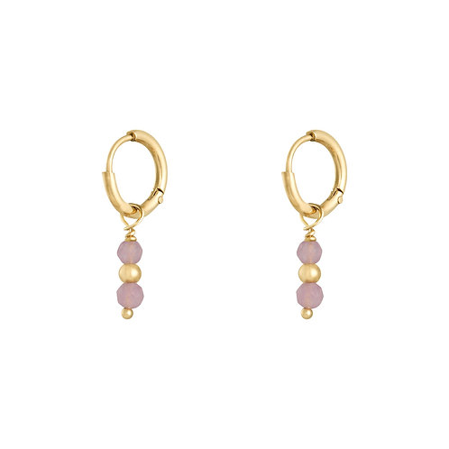 Pink addiction earring - goud