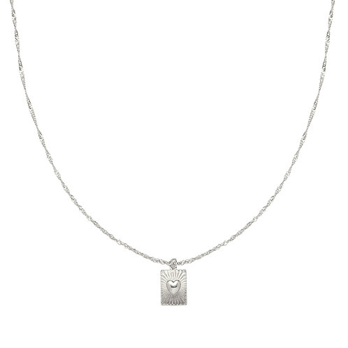 You got me necklace - zilver