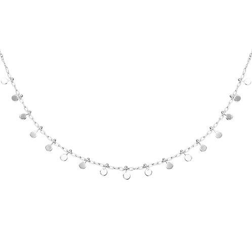 Confetti necklace - zilver