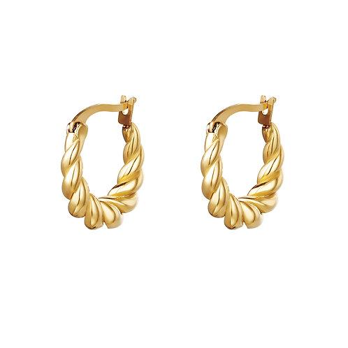 Twisted earring - goud