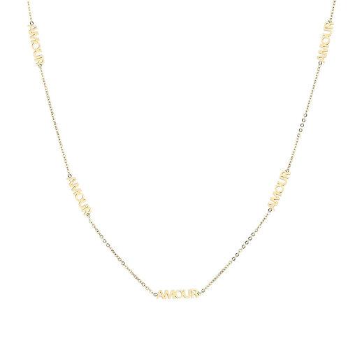 Amour necklace - goud