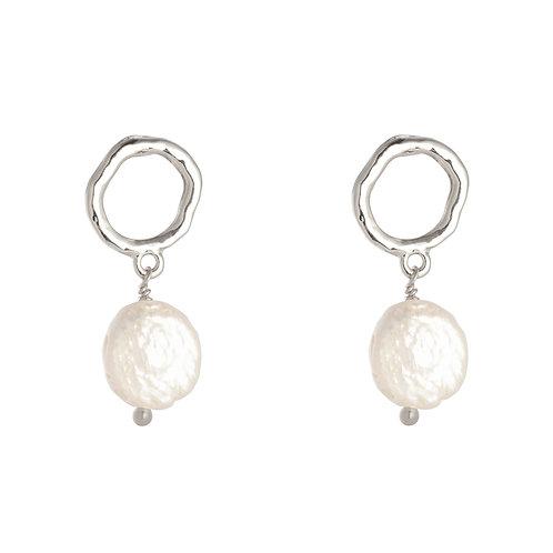 Pearl earring - Zilver