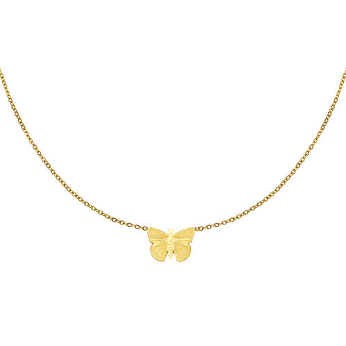 Fly with me necklace - goud