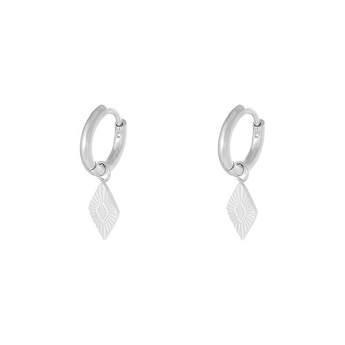 Savage love earring - zilver