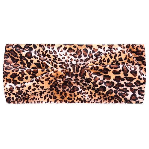 Headband velvet - leopard