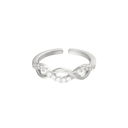 Wave ring - zilver
