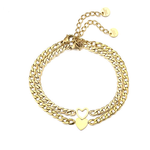 Forever connected bracelets - goud
