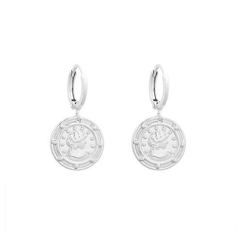 Earring ceasar - zilver