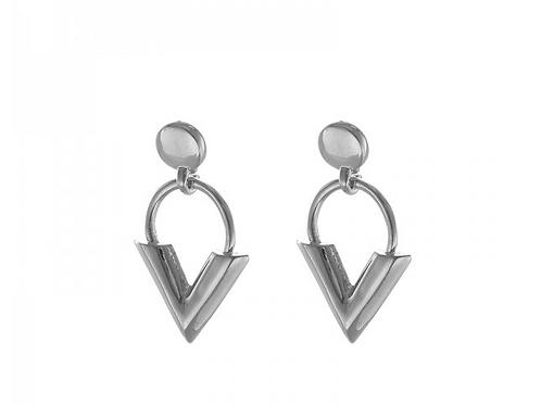 Little V earring - Silver