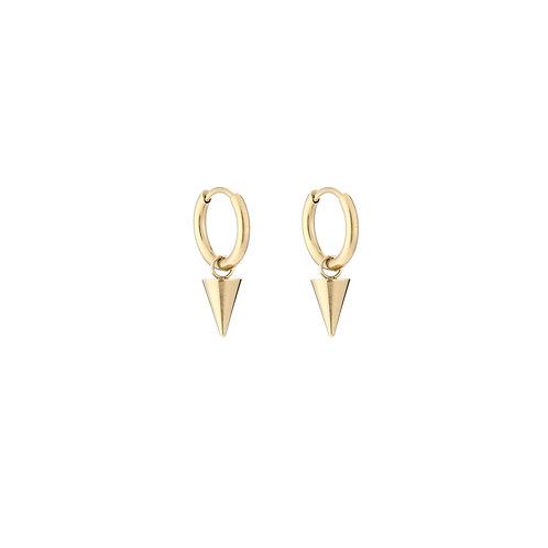 Traingle earring - goud
