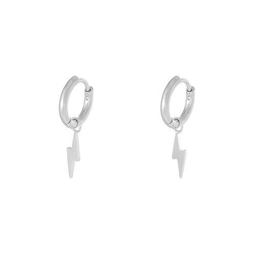 Lightning earring - zilver