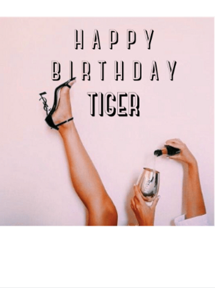 Polaroid kaart - Happy birthday tiger