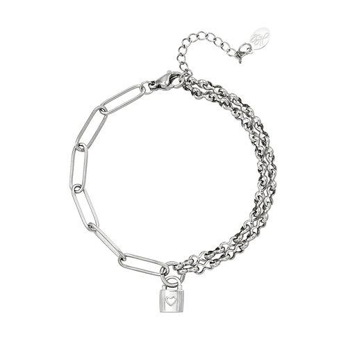 Lock with me bracelet - zilver