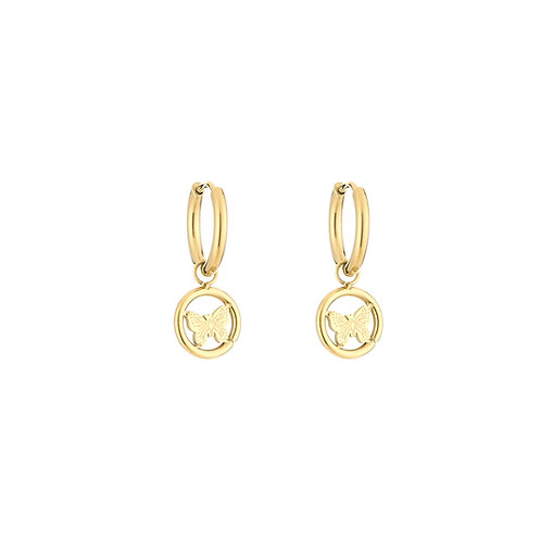Fly with me earring - goud