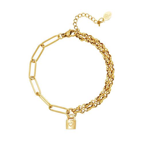 Lock with me bracelet - goud