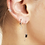 Thumbnail: Moon and star earring - zilver