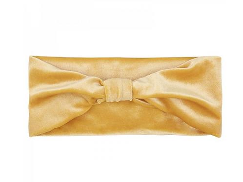 Headband velvet - Yellow