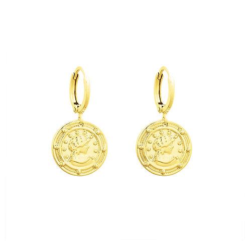 Earring ceasar - goud